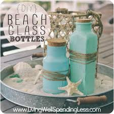 beautiful diy beach glass bottles