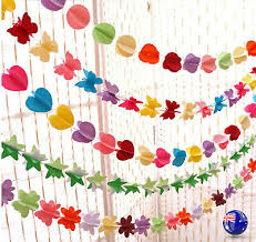 2m Paper Star Wedding Birthday Party Baby Kids Room Hanging Decorations Garland Ebay