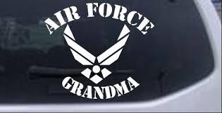 Air Force Grandma Car Or Truck Window Decal Sticker Rad Dezigns
