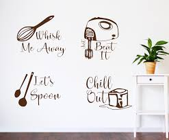 Kitchen Wall Decals Kitchen Utensil Art Lets Spoon Decal Just Beat It Decal Kitchen Decals Whisk Me Away