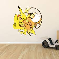 Design With Vinyl Pikachu Pokemon Anime Cartoon Wall Decal Wayfair