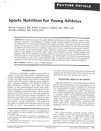 pdf sports nutrition for young athletes