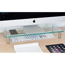 mount it clear glass monitor stand