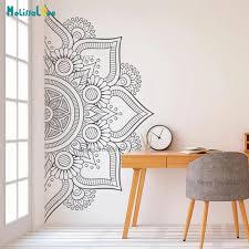 Pinturas Murais Yoga Mandala Om Indian Buddha Symbol Mehndi Vinyl Wall Decal Home Decor Wall Sticker New Year Docration B931 Wall Stickers Aliexpress