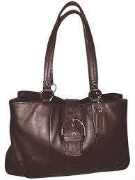 coach handbag extra large brown leather