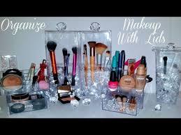 diy makeup organizer brush storage