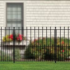No Dig Grand Empire 3 37 Ft H X 4 12 Ft W Black Steel Pressed Point Decorative Fence Panel In The Metal Fence Panels Department At Lowes Com