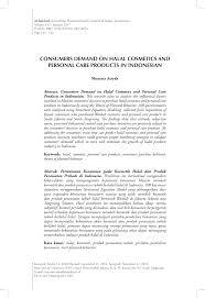 pdf consumer demand on halal cosmetics