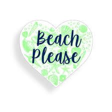 Beach Please Heart Sticker Seashell Ocean Sea Cup Cooler Car Window Bumper Decal Decals Stickers Aliexpress