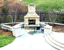 homemade furniture patio fireplace