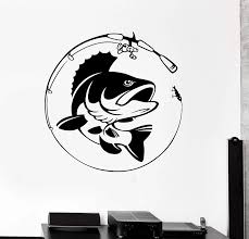 Home Decor Vinyl Wall Decal Fish Fishing Rod Hobby Fisherman Sticker Mural Unique Gift Decal Interior Wallpaper 2kn8 Wall Stickers Aliexpress
