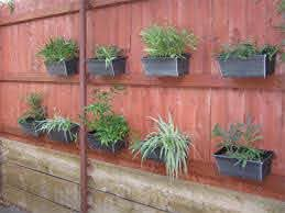 Fence Garden How To Hang Flower Pots On A Fence