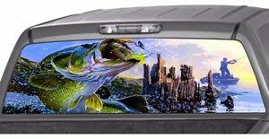 Bass Seabass Fishing Fish Rear Window Graphic Decal Tint Sticker Truck Perf Hunt Ebay
