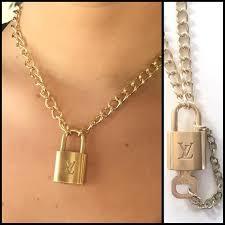 vintage luxury lock made into necklace