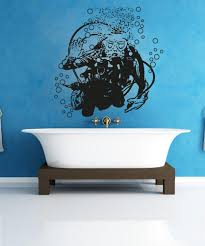 Vinyl Wall Decal Sticker Hello Scuba Diver Os Aa750 Stickerbrand