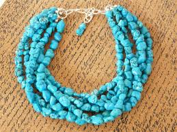 chunky turquoise necklace turquoise