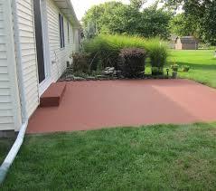 color coating a concrete patio