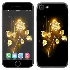 Skin Decal Vinyl Wrap For Apple Iphone 7 Or Iphone 8 Gold Rose Glowing Itsaskin Com
