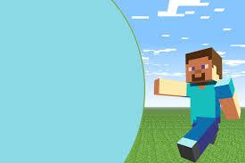 Minecraft Kit Completo Com Molduras Para Convites Rotulos Para