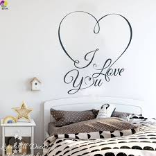Heart I Love You Wall Sticker Bedroom Wedding Decor Living Room Love Heart Family Quote Wall Decal Romantic Vinyl Home Decor Diy Home Decor Decoration Livingfamily Quotes Aliexpress