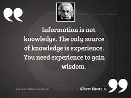 knowledge experience quotes relicsworld
