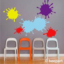 Paint Splatter Decals Ink Splotch Wall Decal Set Art Room Decal Class Room Art Craft Room Decor