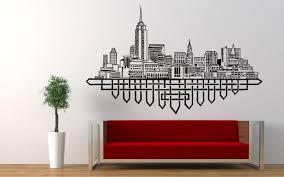 Wall Vinyl Sticker Room Decals Mural Design New York City Skyline Ny Usa Bo1193 Ebay