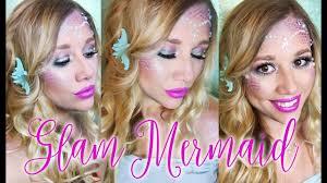 glam mermaid hair and makeup