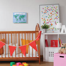 Shop The Kids Room By Stupell Kids World Map Colorful Nursery Design 10x15 Proudly Made In Usa Overstock 28718939