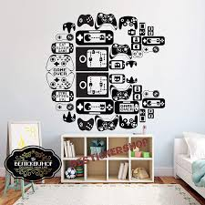 Amazon Com Gamer Wall Decal Pac Man Sticker Kids Bedroom Controller 33 X35 Inches Us035 Home Kitchen