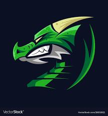 gaming mascot logo template vector image