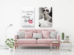 audrey hepburn canvas quotes hollywood postcard canvas