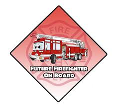 Future Firefighter On Board Window Decal Police Fire Ems Viny Graphics Stickers Decals Dkedecals
