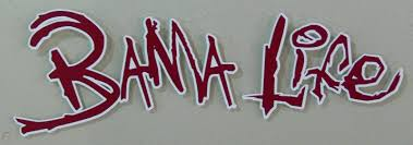 Alabama Crimson Tide Bama Life Window Auto Decal Sticker Burgandy And White 1737498372
