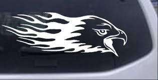 Flaming Eagle Head Decal Car Or Truck Window Decal Sticker Rad Dezigns