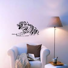 Growling Tiger Wall Stickers Bedroom Living Room Vinyl Wall Mural Decal Removable Animal Home Decor Decorating Decals Decorating Stickers From Joystickers 11 67 Dhgate Com