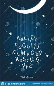 Turkish Moon Night Alphabet For Kids Education Stock Vector Illustration Of Alphabet Background 180272844