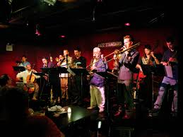 "Lee Konitz Nonet with Ohad Talmor, Russ Johnson, Jacob Garchik, Oscar  Noriega, Denis Lee, Dimos Goudaroulis, Ben Monder, Bob Bow"" by Scott  Friedlander - Jazz Photo"