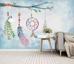Dyed Colorful Feathers Graphic 3d Full Wall Mural Photo Wallpaper Home Decal Kid Herramientasindustrialesas Com