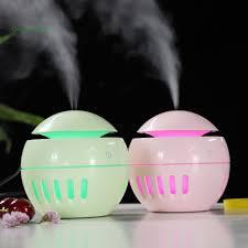 Thiết bị xông tinh dầu hình tròn 130ml tích hợp đèn LED tiện dụng, Giá  tháng 10/2020