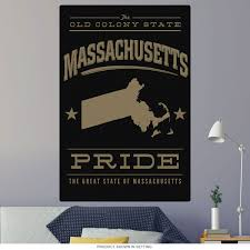 Massachusetts Old Colony State Pride Wall Decal At Retro Planet