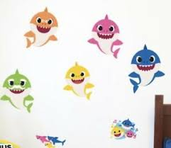 Baby Shark Family Augmented Reality Wall Decal Pinkfong 3d Free App Included Ebay