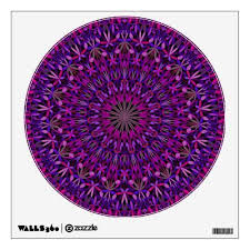 Dark Colorful Floral Kaleidoscope Mandala Wall Decal For 16 55 Walldecorationidea Walldecoration Mandal Mandala Decals Mandala Wall Decor Custom Wall Decal
