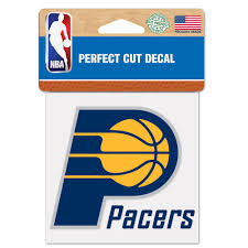 Pacers Perfect Cut Color Decal 4 X 4