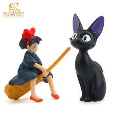 Totoro Collectibles Japanese Anime New Studio Ghibli Kiki S Delivery Service Jiji Bouquets Of Roses Resin Flowerpot Totoro Zsco Iq