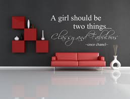A Girl Should Be Two Things Classy And Fabulous Coco Etsy