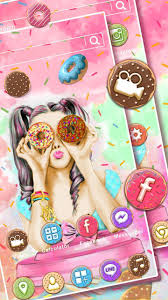 Donut Girl موضوعات خلفيات أيق For Android Apk Download
