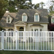 Veranda Pro Series 4 Ft W X 6 Ft H White Vinyl Lafayette Spaced Picket Fence Gate 144722 The Home Depot