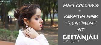 hair coloring keratin treatment