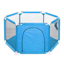 Playpen Play Yard Space Canopy Fence Pin 6 Panel Popup Foldable And Portable Lightweight Safe Indoor Outdoor Infants Babies Toddlers Kids Walmart Com Walmart Com